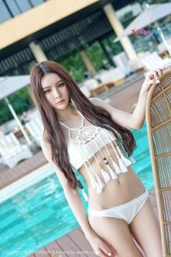 [FEILIN嗲囡囡] VOL.020 邻家辣妹Cheryl青树白色清凉泳装湿身艺术写真 60P