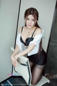 [YouWu] VOL.081 樱桃嘴美艳小姐姐兔子Nina包臀OL制服黑丝魅惑私房 42P