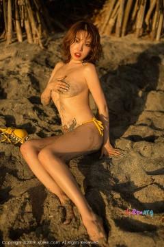 [秀人网XiuRen] N01551 冷艳短发兔牙妹黄楽然海滩活力比基尼清凉艺术私拍 55P
