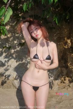 [秀人网XiuRen] N01681 雪肌丰满美媛王雨纯海滩细小比基尼火爆人体写真 58P