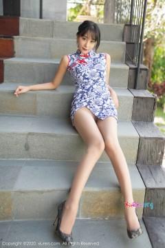 [秀人网XiuRen] N02050 白皙长腿极品美媛蓝夏Akasha养眼清凉魅力旗袍个人诱惑商务私房 46P