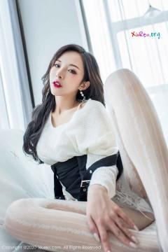 [秀人网XiuRen] N02143 红唇艳丽小姐姐陈小喵白色喷血内裤娇柔风情美女写真 67P