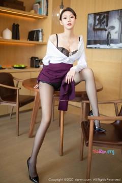 [秀人网XiuRen] N02238 冷艳长腿美媛艺轩诱人垂涎黑丝制服私密风情商务写真 84P